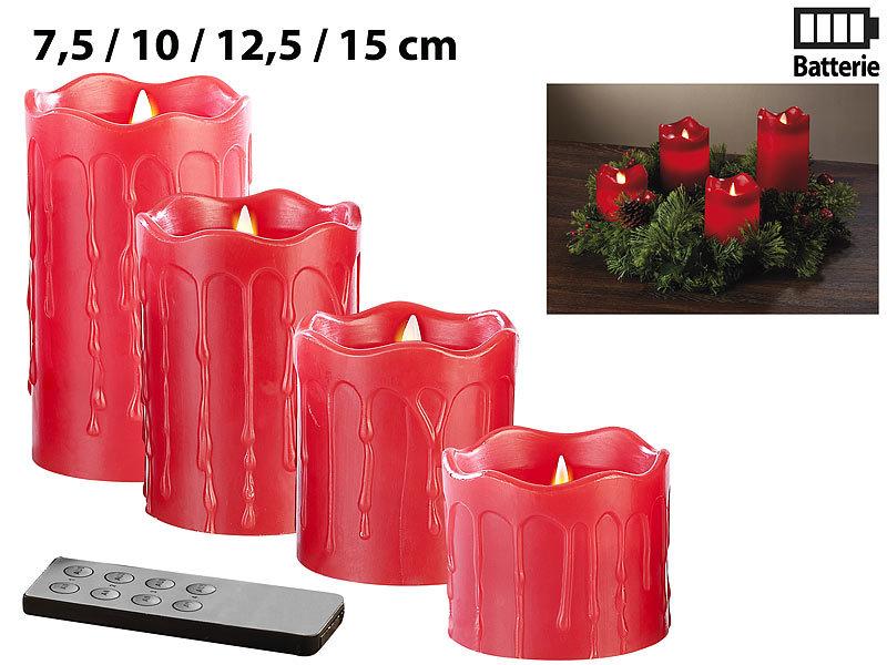 Weihnachtsdeko Led Kerzen.Britesta Adventskranz Mit Roten Led Kerzen Silbern Geschmückt