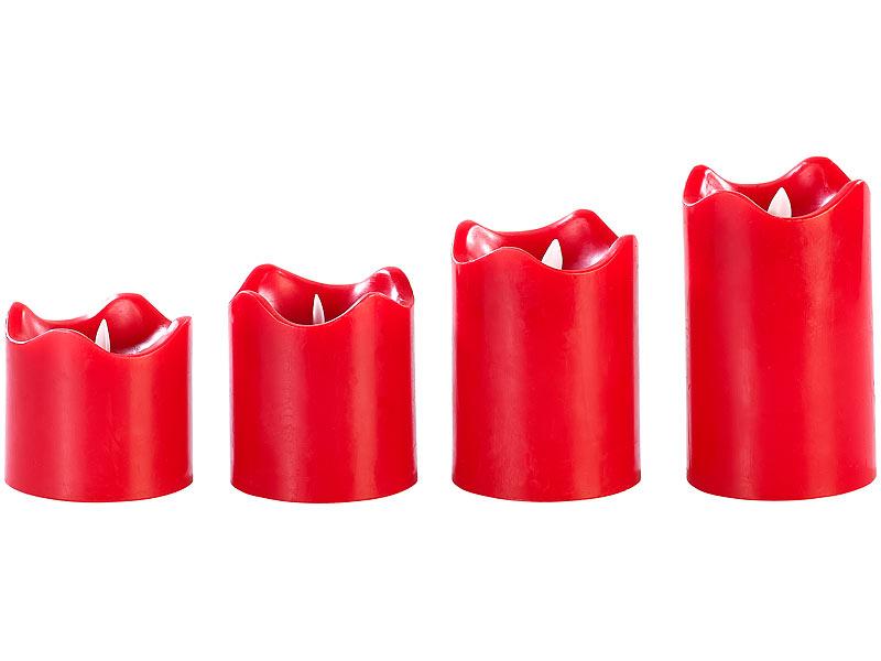 Weihnachtsdeko Led Kerzen.Britesta Adventskranz Golden 4 Rote Led Kerzen Mit Bewegter Flamme