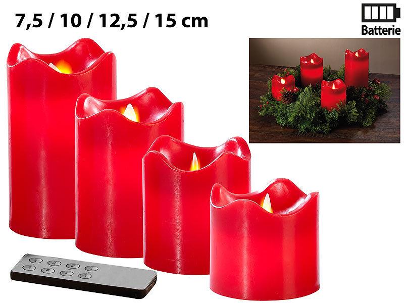 britesta adventskranz golden 4 rote led kerzen mit. Black Bedroom Furniture Sets. Home Design Ideas