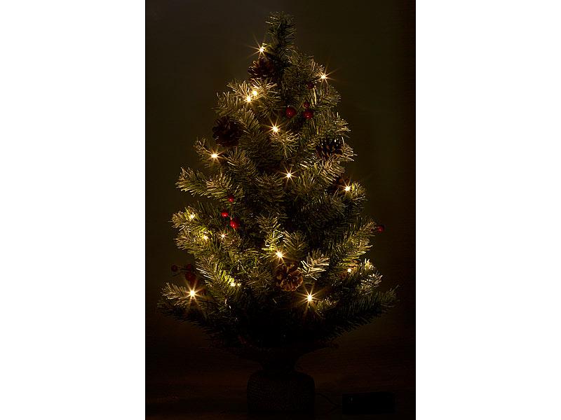Britesta Deko Weihnachtsbaum Mit 30 Leds Pinienzapfen Und